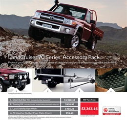 Toyota LandCruiser 70 Genuine Accessories