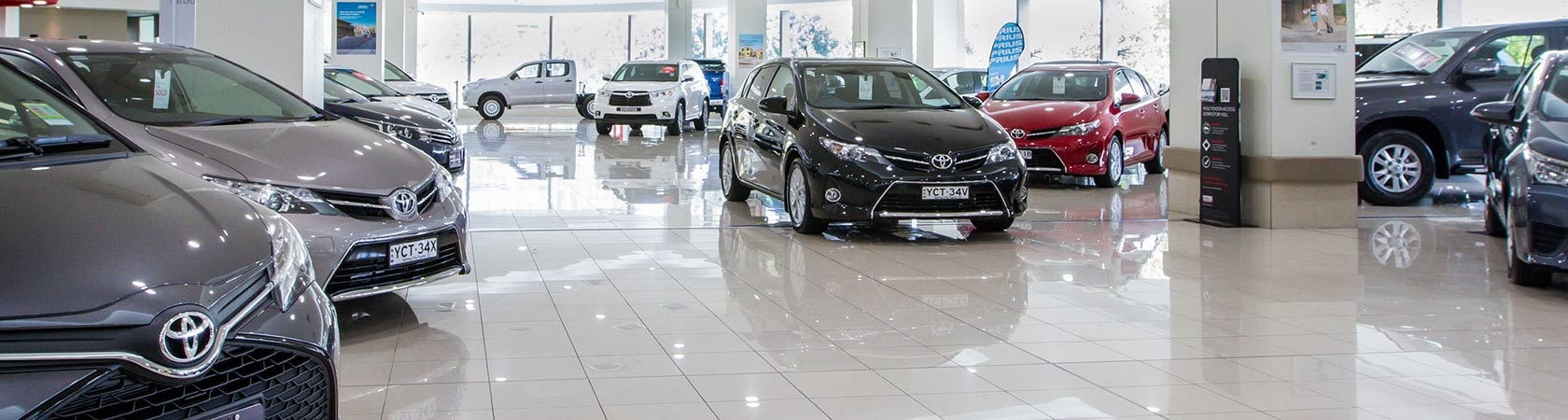 New Car Showroom at Sydney City Toyota